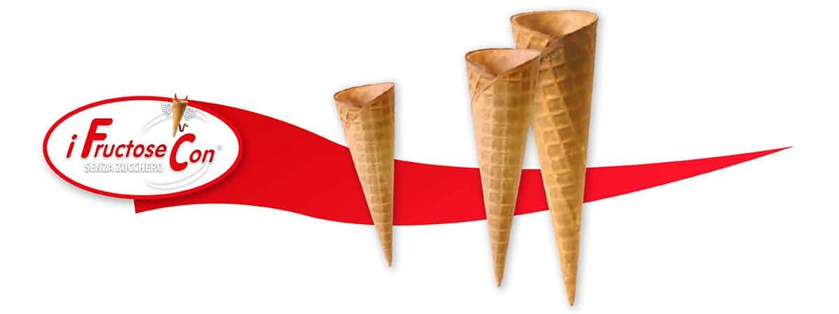 cono gelato senza zucchero, Coni Gustolosi al fruttosio